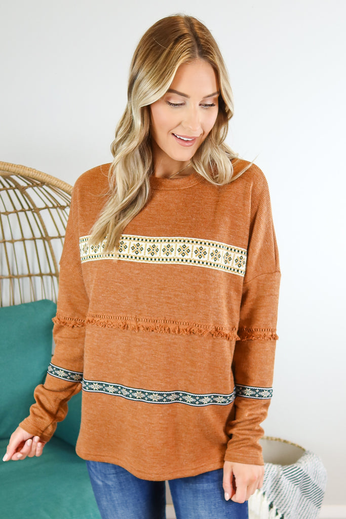 Pioneer Days Fringe Accent Top