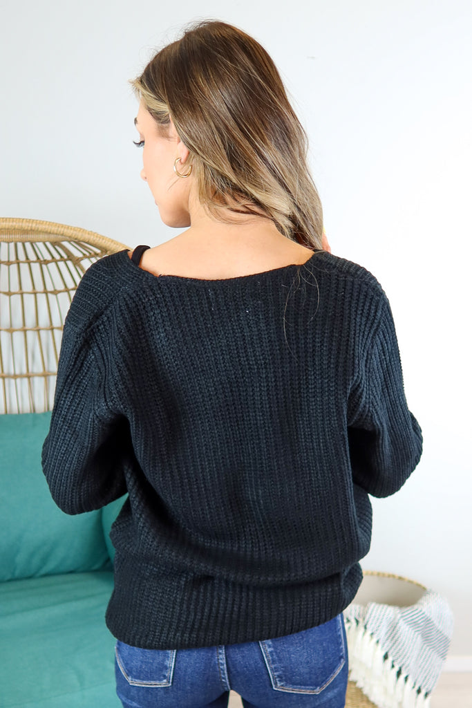 Melissa Wrap Front Sweater - 2 Colors