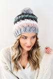 Cutie Patootie Striped Beanie - 3 Colors