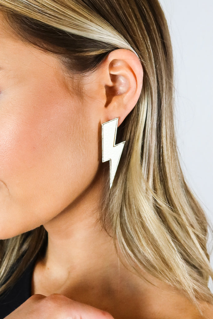 Lightning Bolt Earrings - 3 Colors