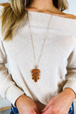Autumn Breeze Leaf Necklace - 3 Colors