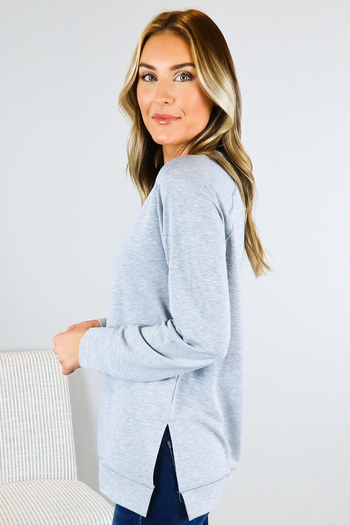 Basic Trendy Long Sleeve Top - 3 Colors