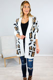 Cat Women Leopard Cardigan