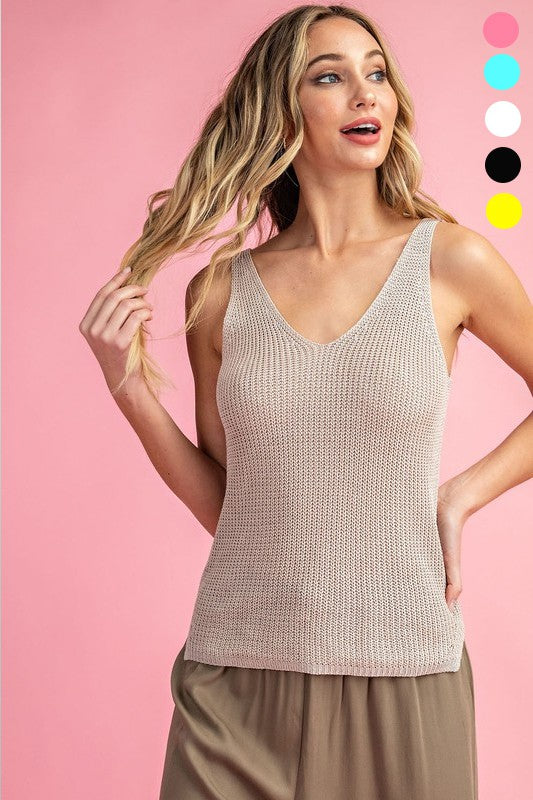 Beach Babe Knit Tank - 3 Colors