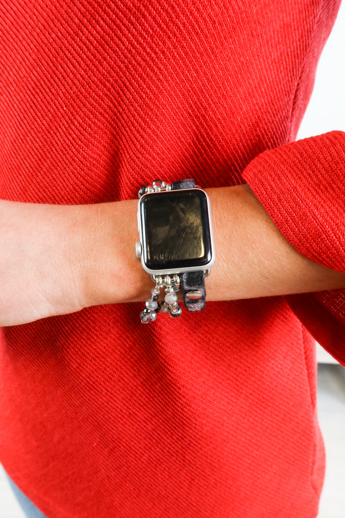 Leopard And Beads Apple Watch Band - 2 Colors