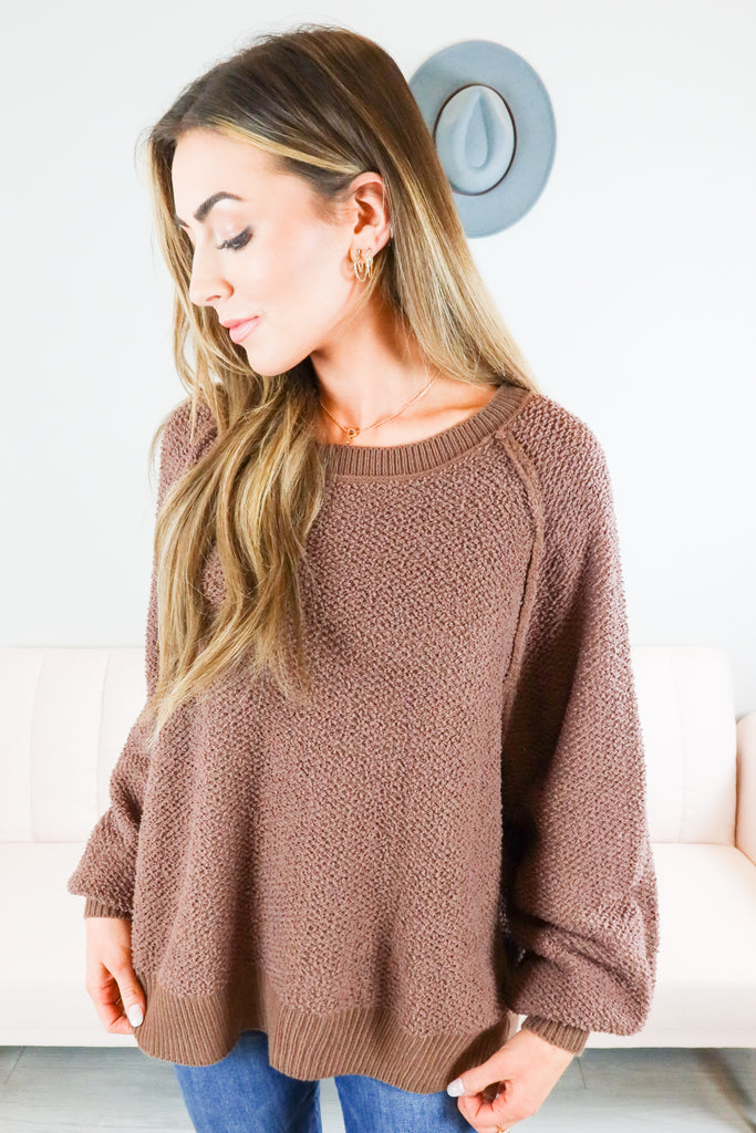Johnny Balloon Sleeve Sweater - 5 Colors