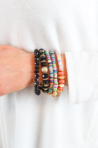 Multi Layer Bead Bracelet - 2 Colors