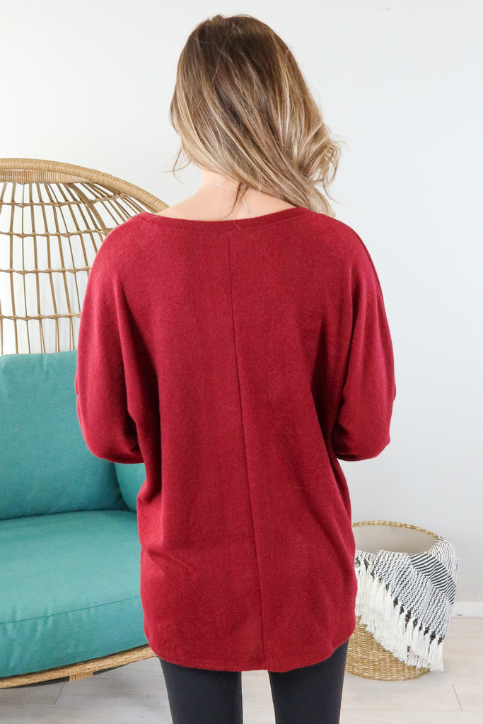 Snowy Mountains V Neck Top - 3 Colors