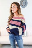 Girly Day Out Striped Sweater - 2 Colors