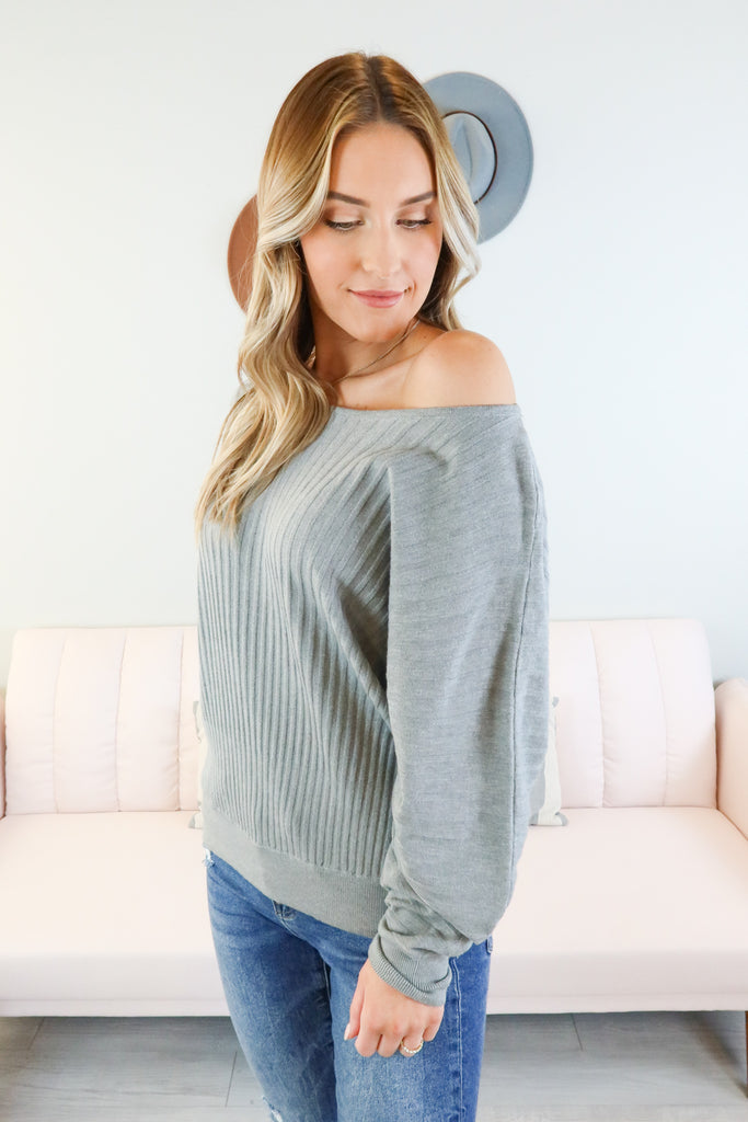 Gwendolyn Ribbed Dolman Top - 2 Colors