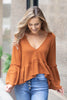 Caramel Delight Ruffle Top