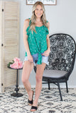 Green Acres Ruffle Top
