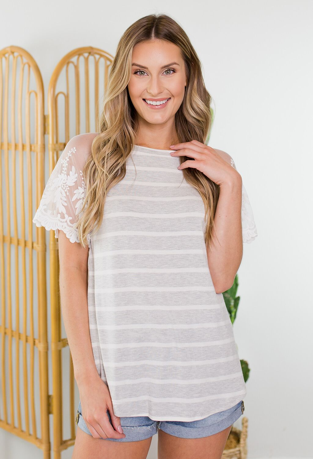 Thelma Lace Sleeve Top