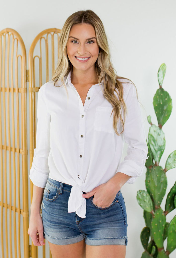 Carolina Button Up Top