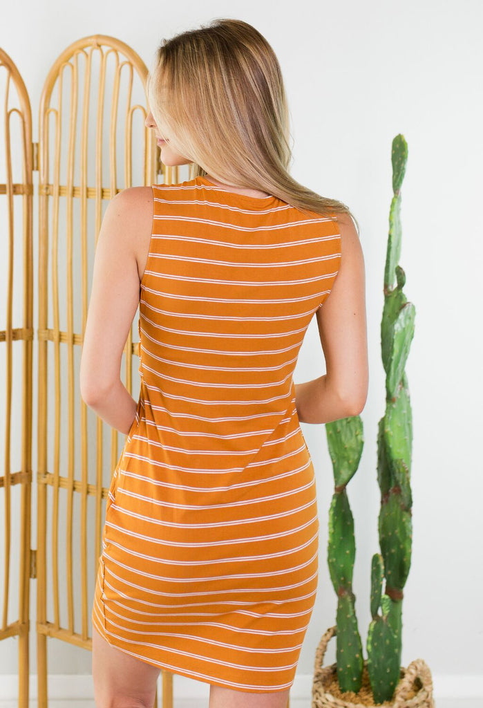 Vivian Striped Tie Dress
