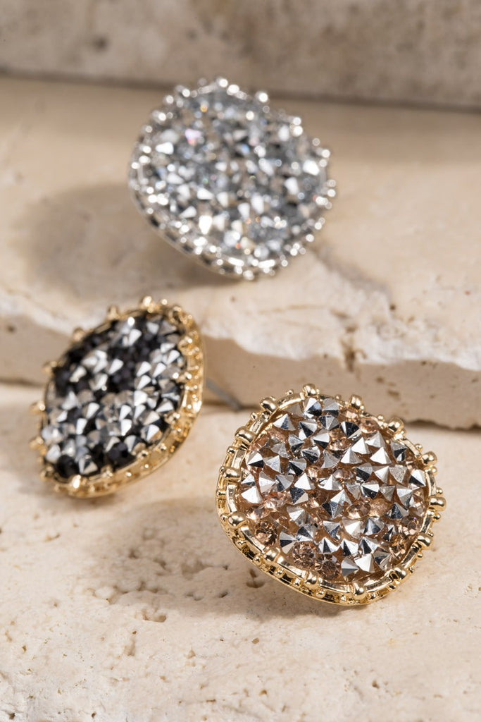 Round Glitter Earrings