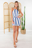 Beach Life Striped Romper