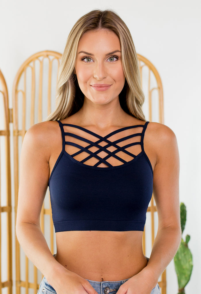 Criss Cross Strappy Bralette