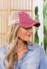Lake Hair Distressed Baseball Ponytail Cap-4 Colors!!