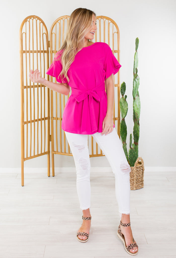 Love Letter Ruffle Top