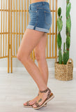 Skipper Denim Cuffed Shorts