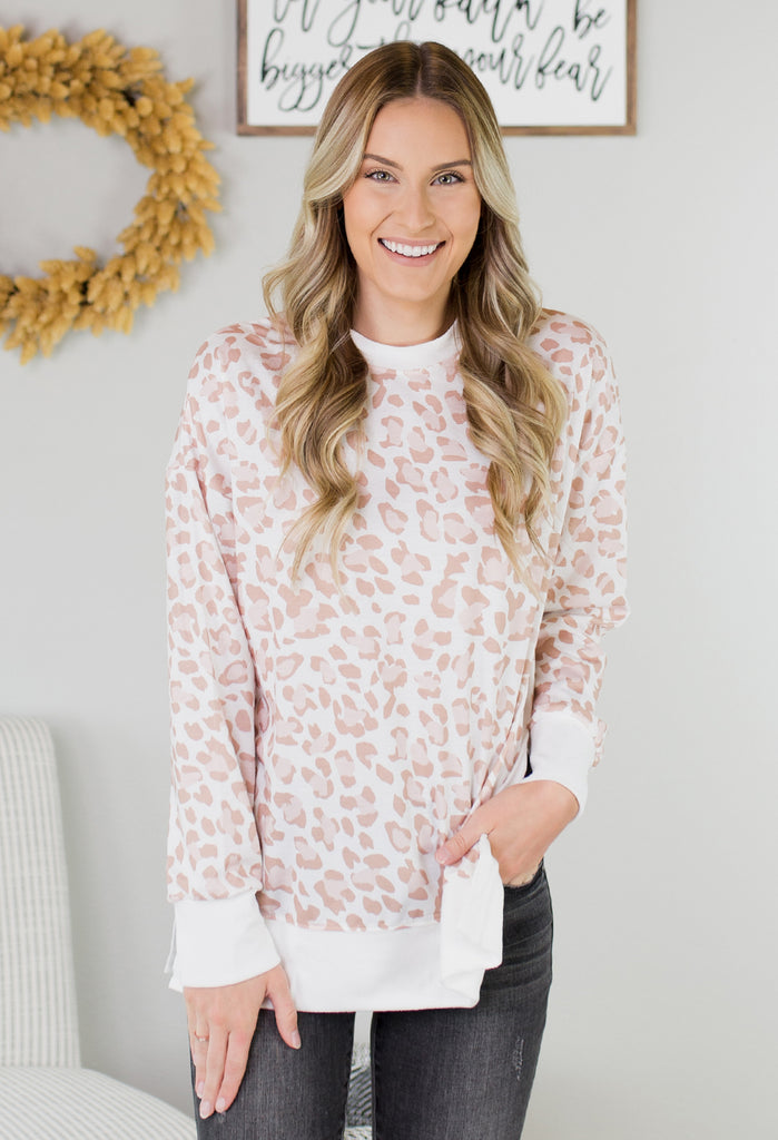 Sabor Leopard Pullover