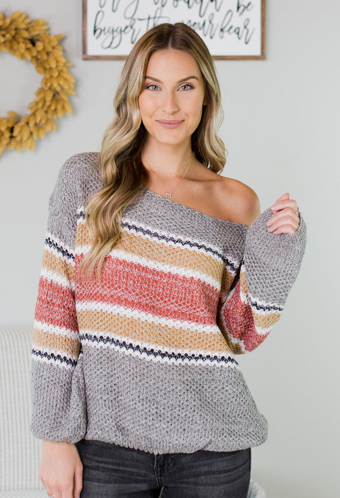 Vail Striped Knit Sweater - 2 Colors