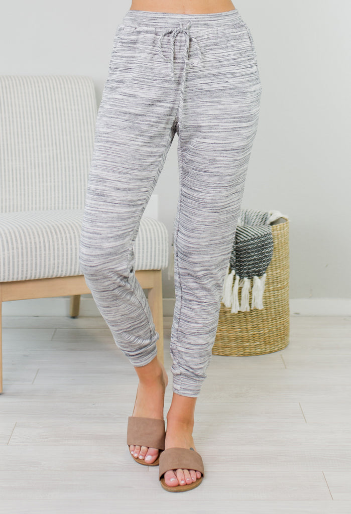 Heathered Gray Comfy Joggers