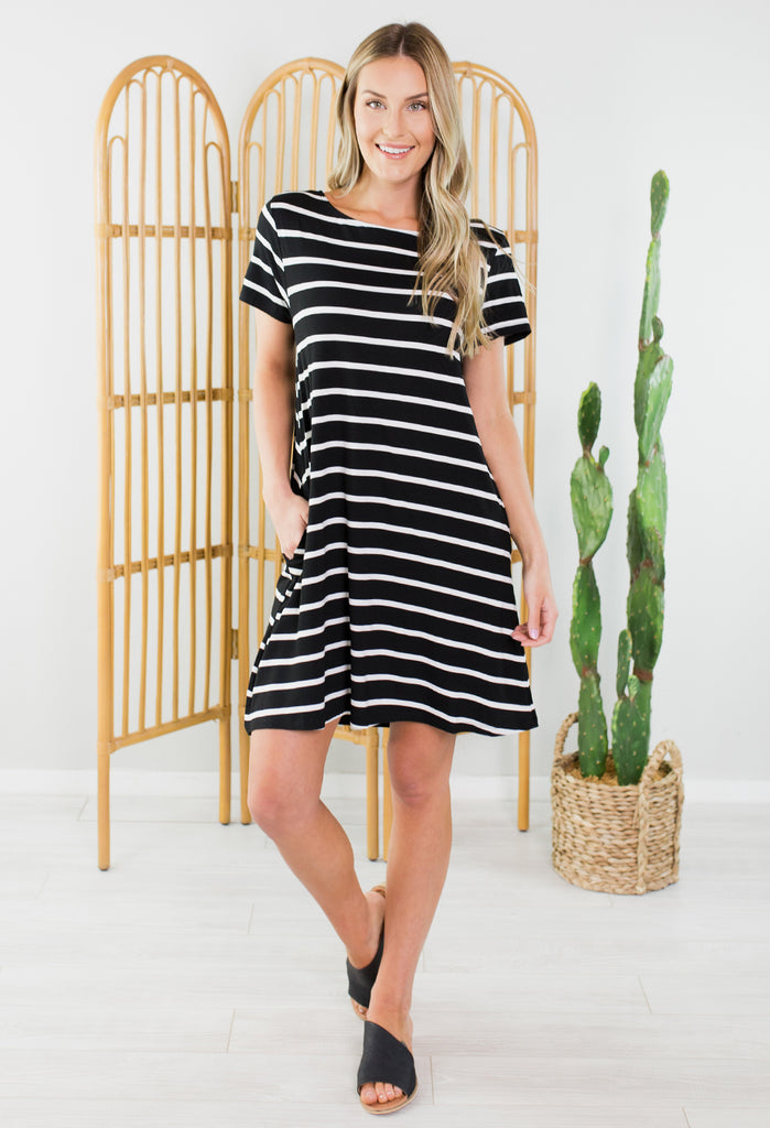 Winona Striped Dress