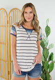 Tina Stripe Short Sleeve Top