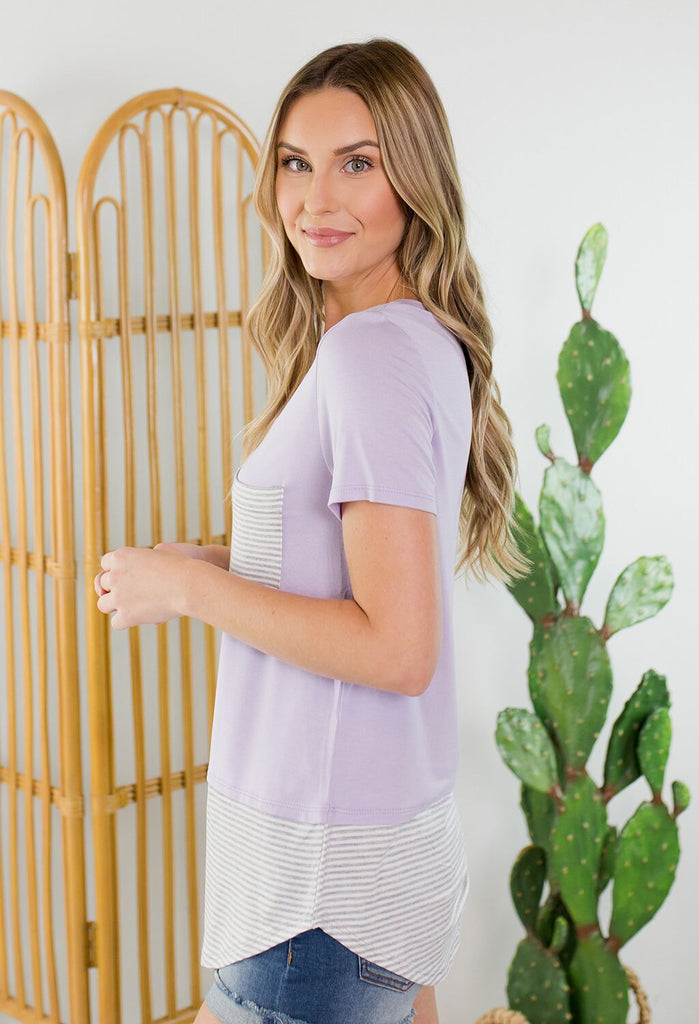Annie Striped Pocket Top