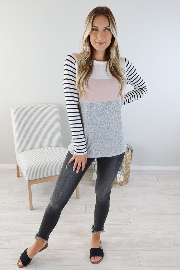 Beautiful Day Striped Staccato Top - 2 Colors