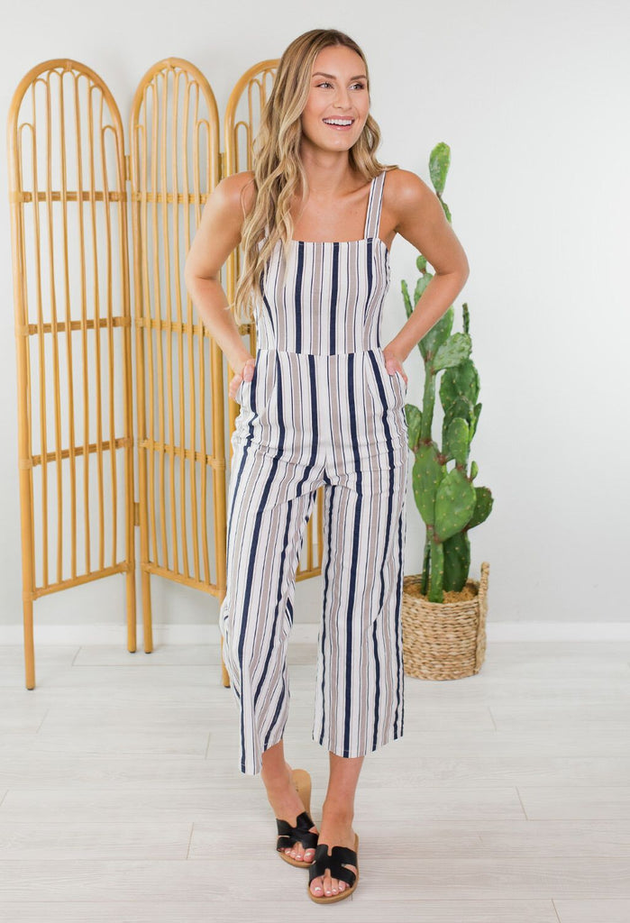 Work Life Striped Jumpsuit