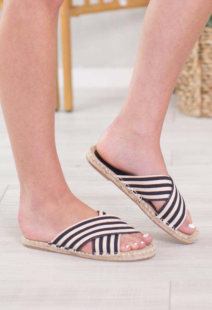 Ocean View Striped Sandal
