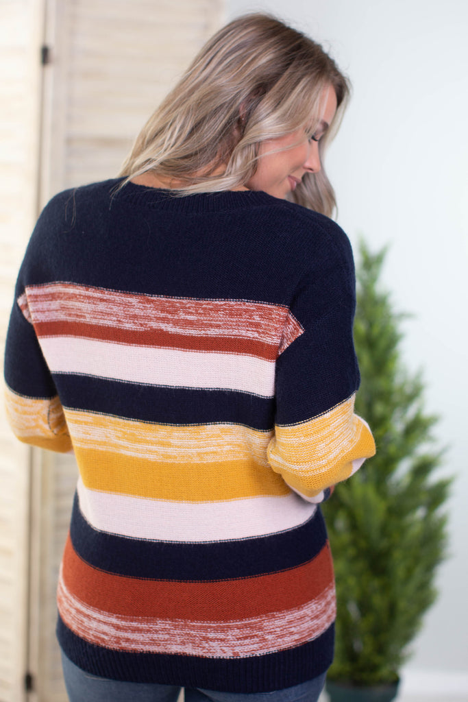 Midwest Sky Colorblock Sweater