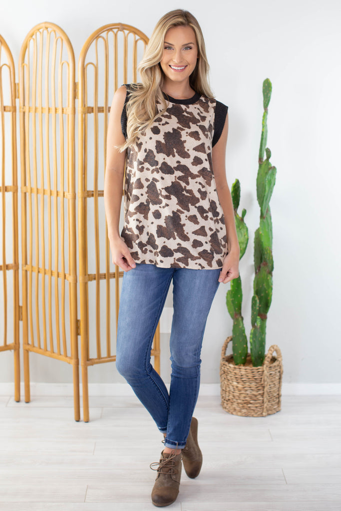 Stampede Sleeveless Top