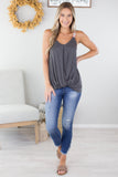 Katelyn Tie Up Cold Shoulder Top