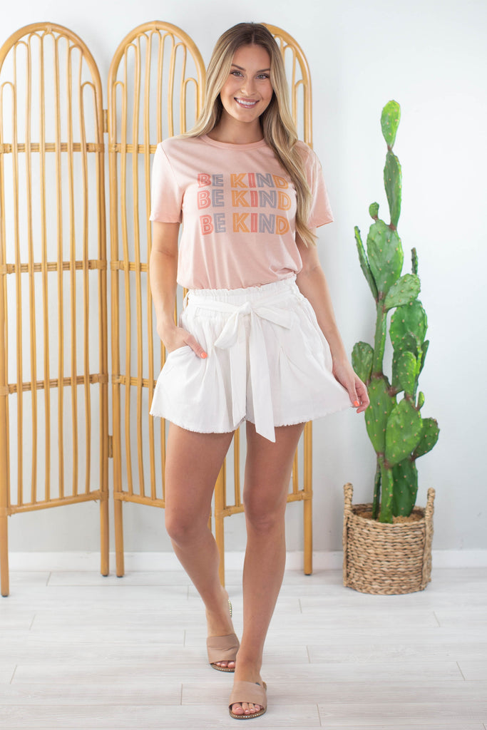 Day Dreaming High Waisted Tie Short