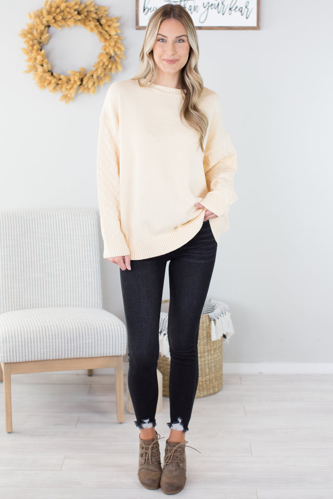 Chunky Cable Sweater