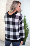 Plaid V Neck Sweater