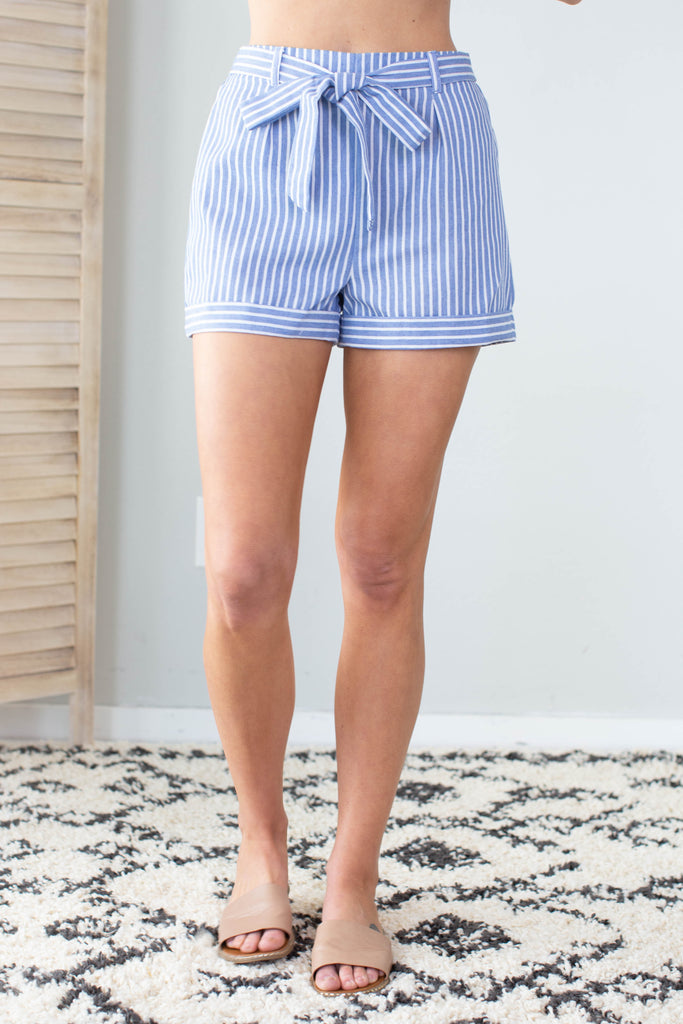 Country Time Striped Shorts - 2 Colors