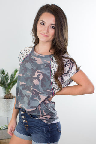 Linen Distressed Top