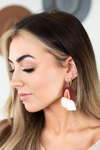 Jungle Fun Tassel Earrings-2 Colors!