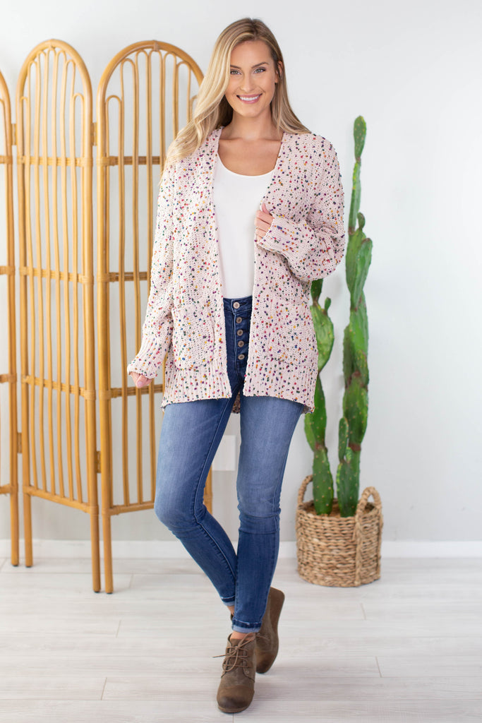 Pebbles Speckled Cardigan
