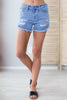 Beach Vacation Distressed Shorts