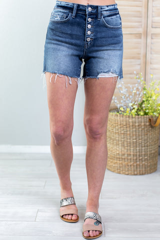 Marina Distressed Shorts - 3 Colors!!