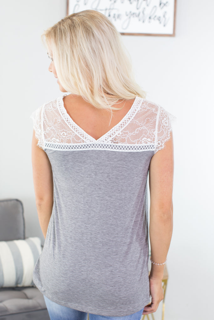 Flirty Lace Detail Top - 2 Colors