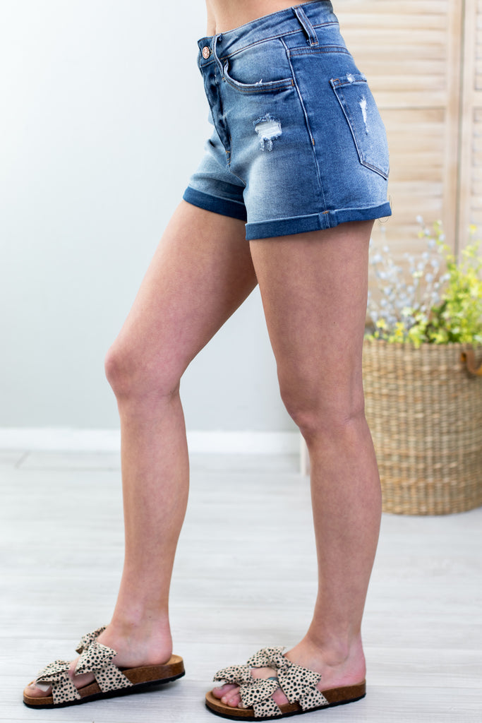 Happy Place High Rise Shorts Vervet By Flying Monkey