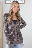 Camo Snap Button Cardigan
