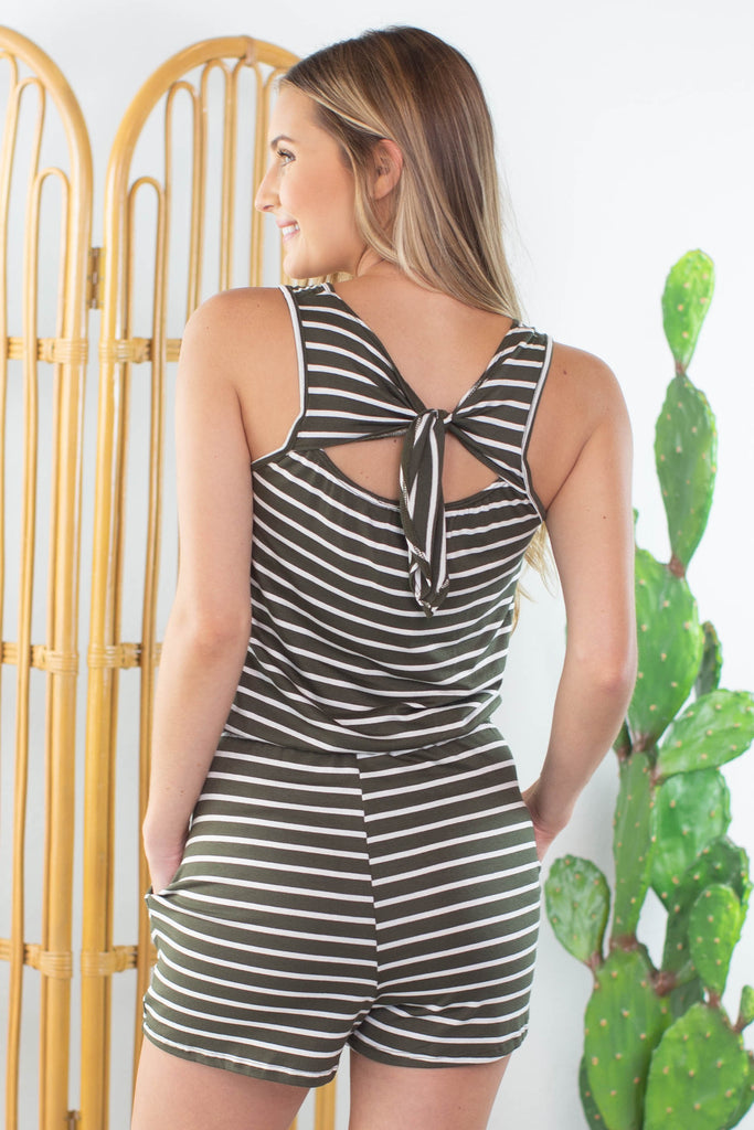 Olive Oyl Striped Romper